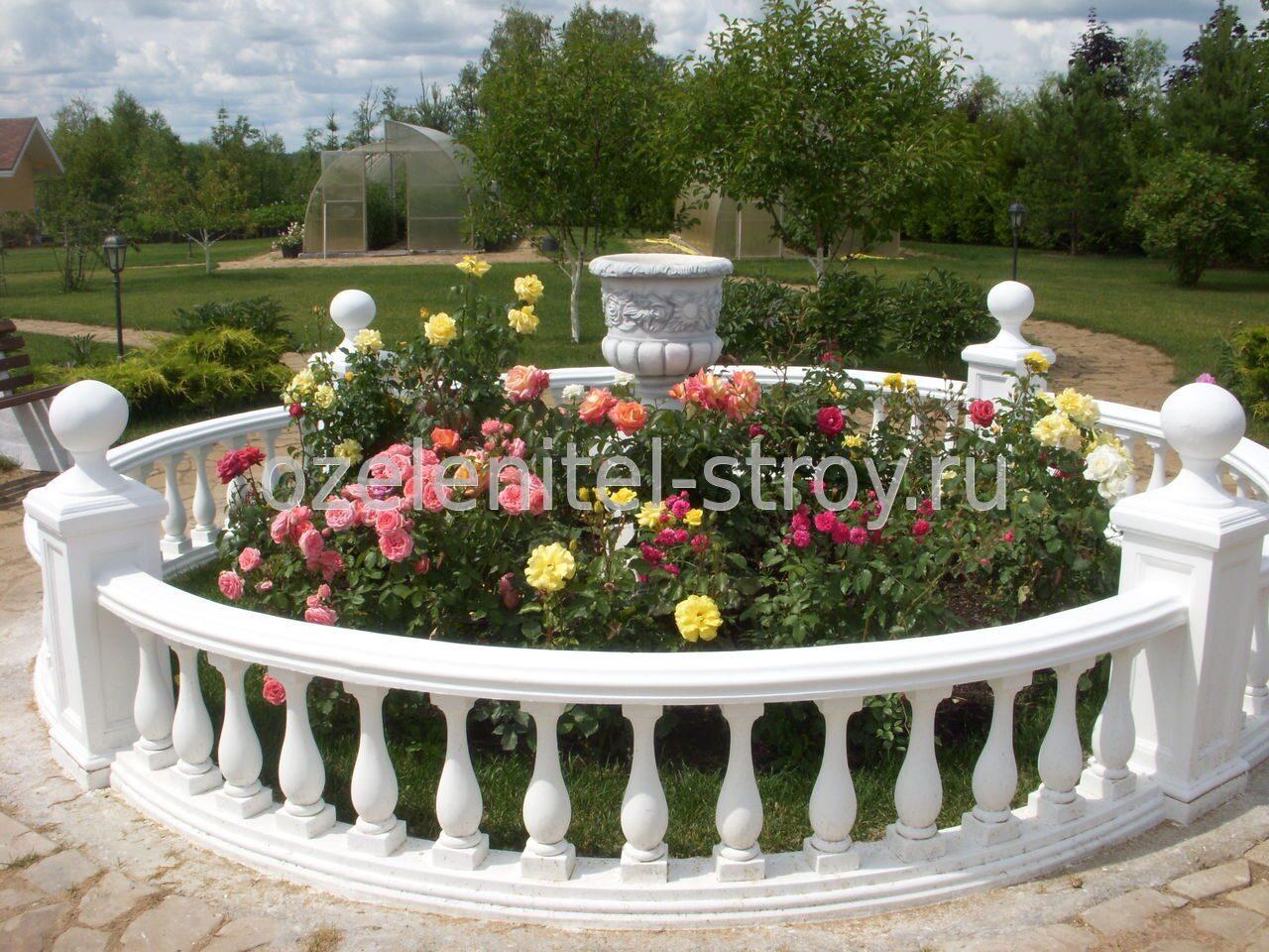 Клумба из роз своими руками - фото оформления розария на даче 87