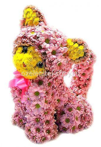 Звери и цветы своими руками