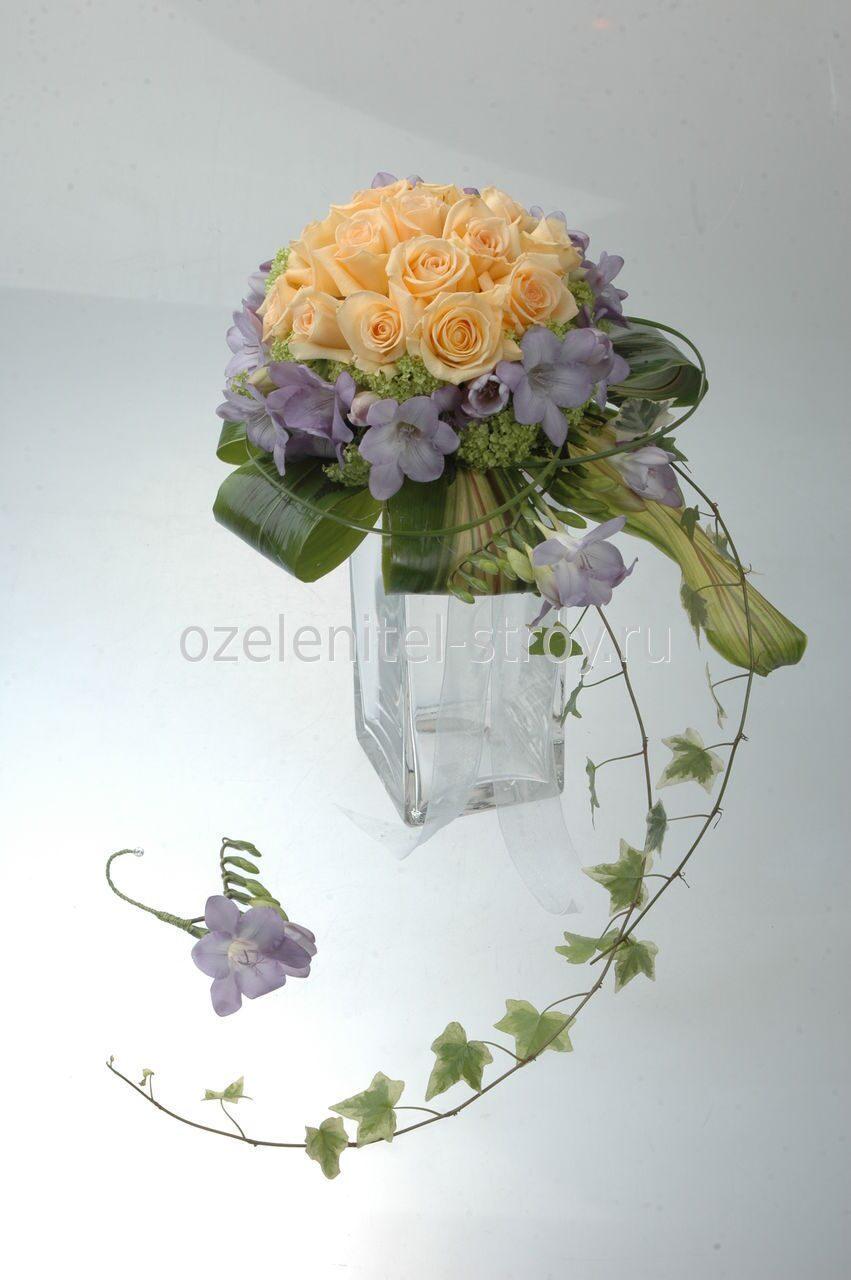 Цветы на каркасе фото